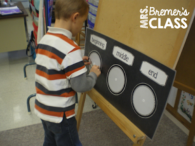 A fun activity to practice beginning, middle, and ending sounds and CVC words in Kindergarten