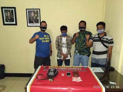 Polres Lobar Ringkus Terduga Pelaku Narkoba di Sekotong