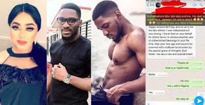 I used to talk to Tobi Bakre's Dad — Bobrisky claims, shares their whatsapp chat #BBNaija