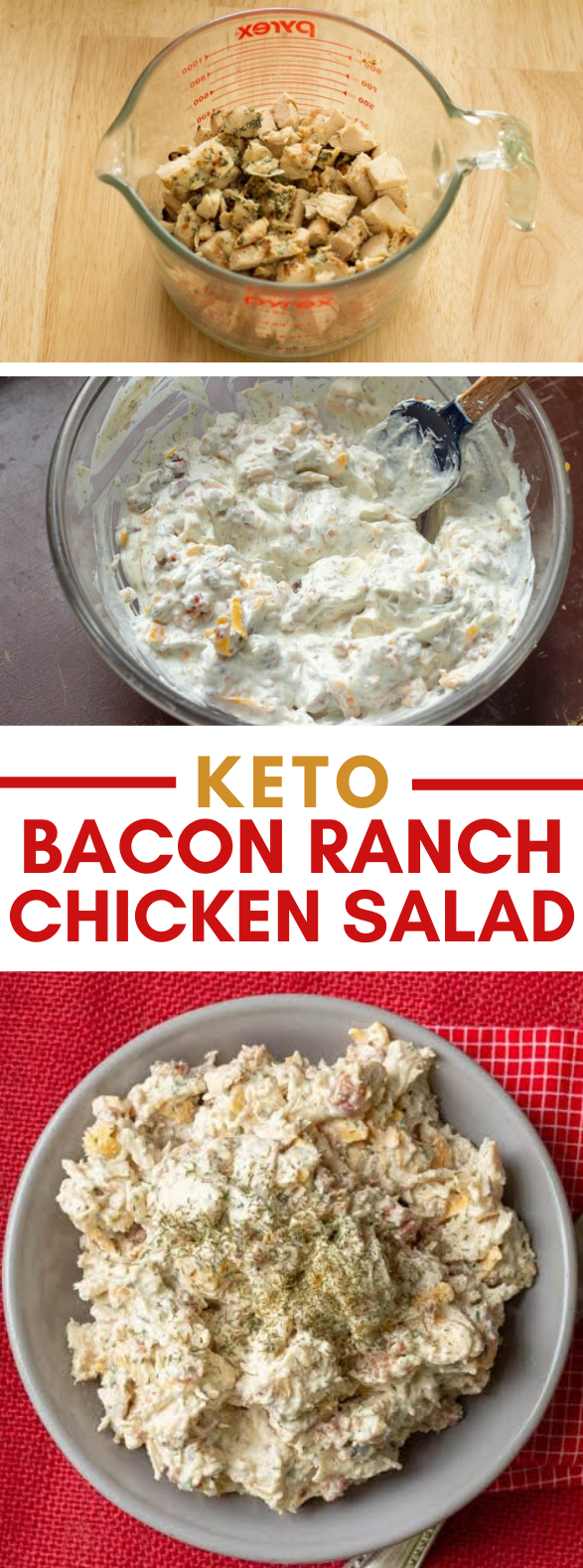 BACON RANCH EASY KETO CHICKEN SALAD – LOW CARB THM #diet #healthy
