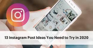 Instagram Post Ideas For 2020