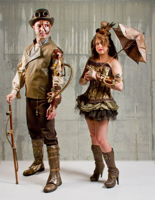 Home-Made Steampunk Halloween Costumes