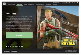 Install Fortnite melalui Epic Game Launcher - Apa Itu Fortnite Spesifikasi & Cara Daftar Download & Install