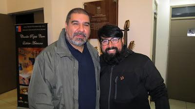 Los luthier Claudio Rojas y Eduardo Cornejo