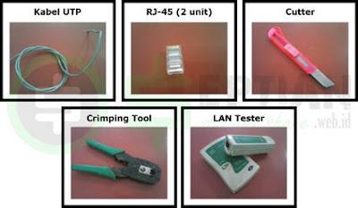 alat dan bahan membuat kabel utp