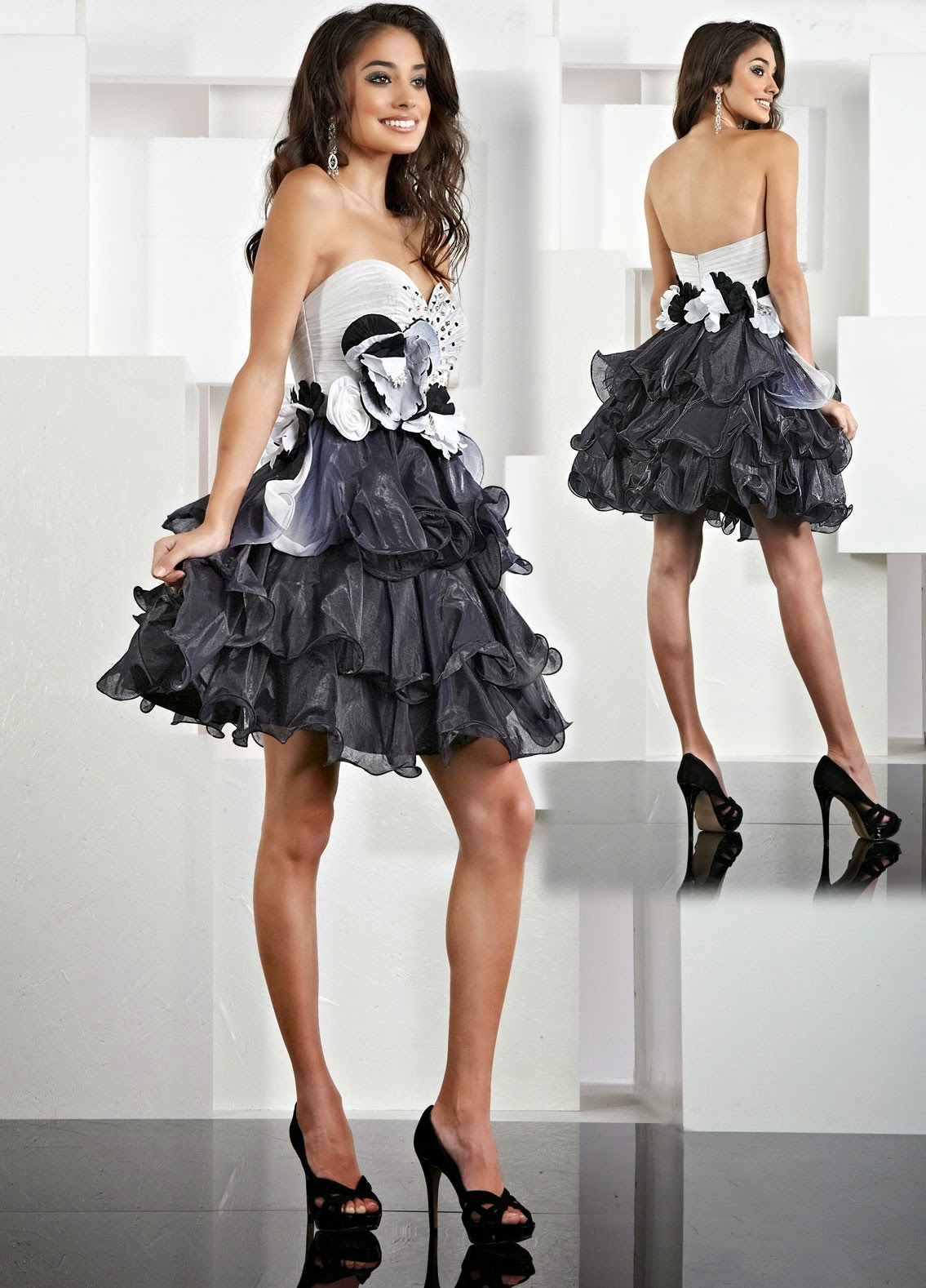 999f6775bc Quotes about  Organza Sweetheart Ruffled Bodice Short Prom Dress ...