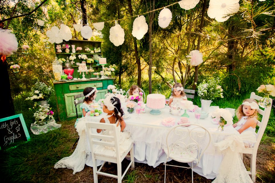 Confetti Glitter Whimsical Tea Party In The Woods By