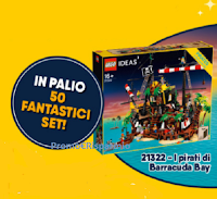 """Grande concorso vinci i Pirati Lego : in palio 50 Playset """"IPirati di Barracuda Bay"""" (valore 199,99 euro)"""