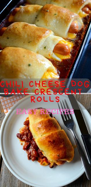 Chili Cheese Dog Bake Crescent Rolls