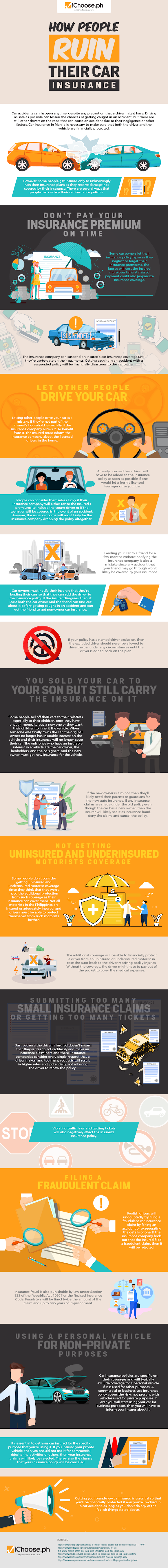 How People Ruin Their Car Insurance #infographic
