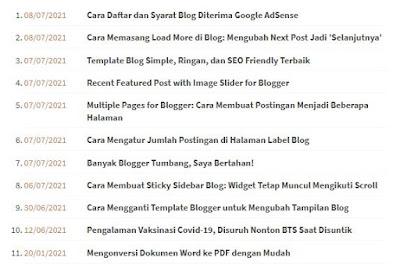 Cara Membuat Sitemap HTML di Blogger
