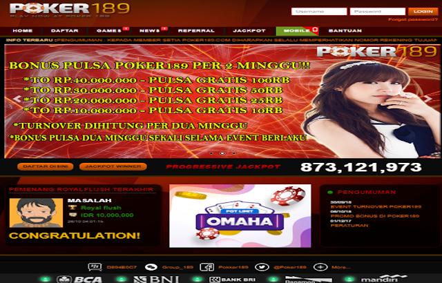 POKER189 Poker Indonesia | Poker Online Indonesia Terpercaya | Bandar Ceme Online | Domino Online Indonesia