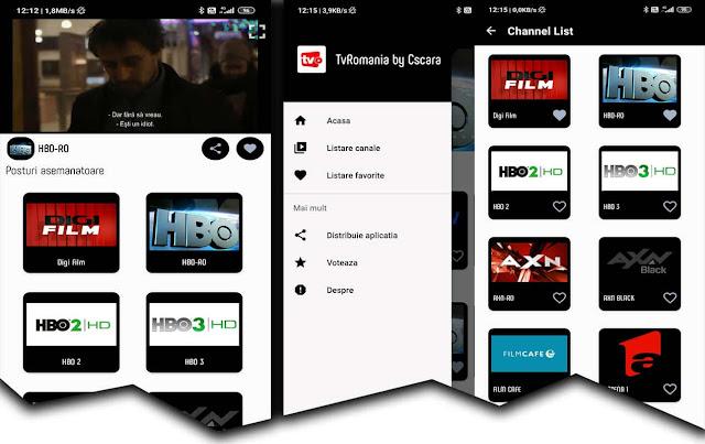 TvRomania by Cscara este o aplicație Android pentru văzut programe tv online pe telefon.