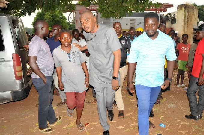 House Of Reps Member Robert Tyough  Begins Drilling of 120 Borehole For Constituents