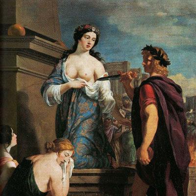 """Il dipinto """"Il sacrificio di Polissena"""" è di Nicolas Prévost (1604-1670)"""