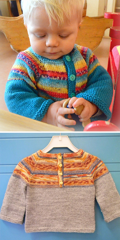 Sweet Baby Sweater - Free Knitting Pattern