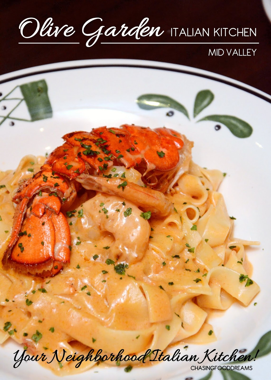 Chasing Food Dreams Olive Garden Italian Kitchen Mid Valley