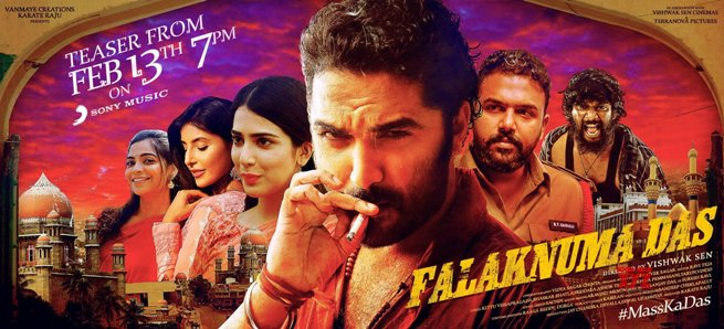 Falaknuma Das next upcoming movie first look, Poster of Vishwak, Saloni, Harshita download first look Poster, release date