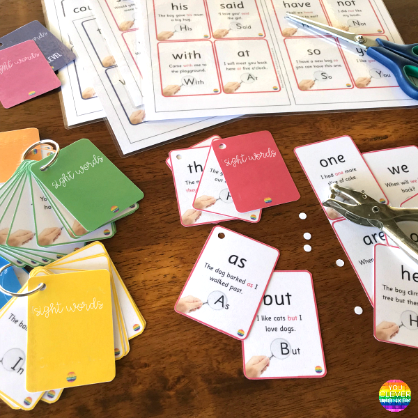 Sight Word Cards | you clever monkey