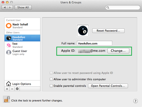 Reset Apple Mac OS X Root or admin password using Apple ID