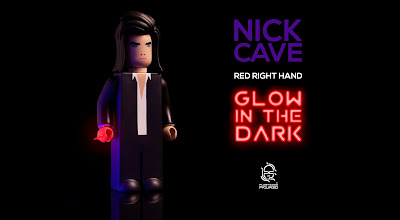 San Diego Comic-Con 2020 Exclusive Glowing Red Right Hand Nick Cave Vinyl Figure by Plasticgod