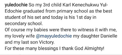 Yul Edochie Shows Off His Beautiful Wife And Their Kids
