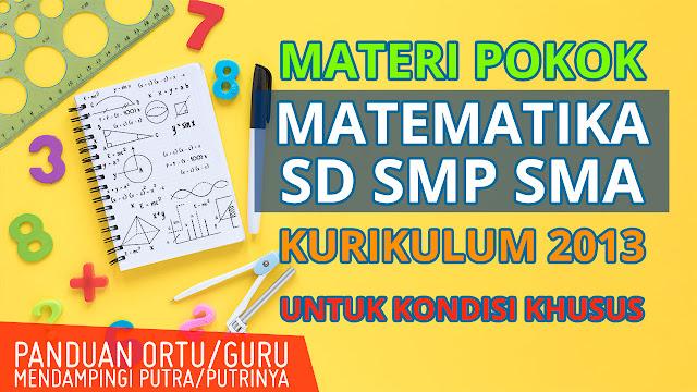 Materi Pokok Matematika SD SMP SMA Kurikulum 2013 Terbaru