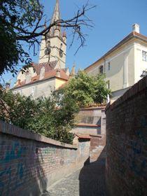 Sibiu - Gangul Pasajului scărilor ce duce spre Liceul de Muzică și Arte Plastice
