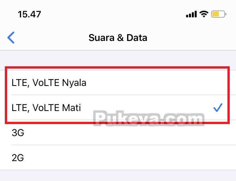 Cara Mengunci Jaringan Sinyal 4G LTE di iPhone   PUKEVA