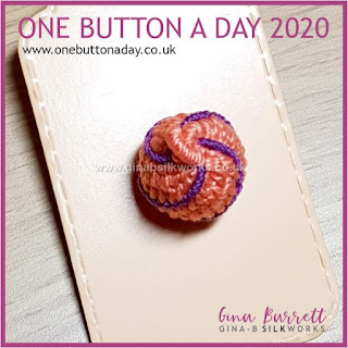 One Button a Day 2020 by Gina Barrett - Day 120 : Right Round
