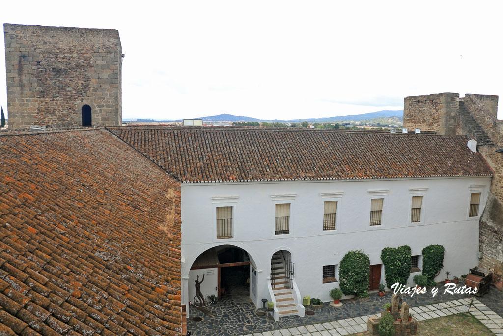 Patio interior del castillo de Olivenza
