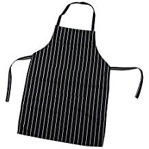 TRIXES Professionelle Küchenschürze schwarz und weiß gestreift
