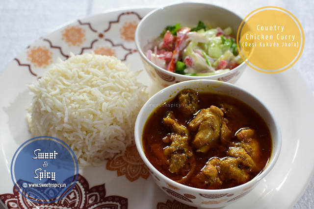 Country Chicken Curry with Steamed Rice and Cucumber-Yogurt Salad