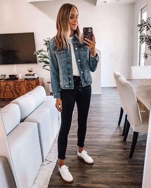 Kurtka jeansowa, denim jacket, pomysł na kurtke jeansową