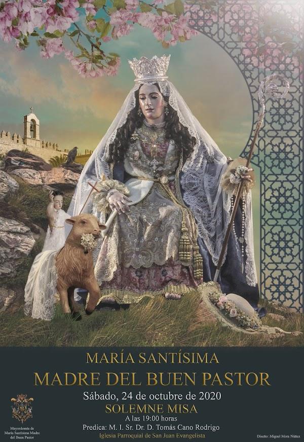 Cartel de Cultos para María María Santísima Madre del Divino Pastor de Almería