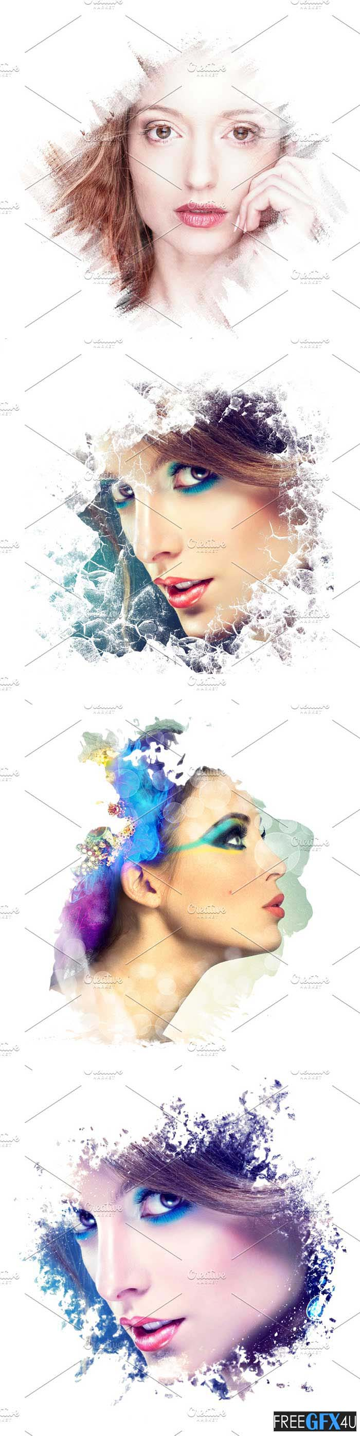 Artistic  PSD Photo Frames