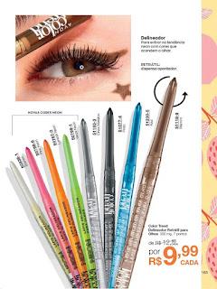 Lápis retrátil para facilitar um traço iluminado, prático e perfeito. Olhos delineados e iluminados.Contém 350mg.