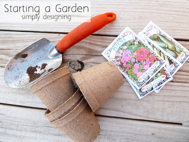 planting a garden with starter seeds - #garden #miraclegroproject #sponsored