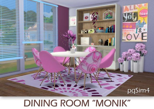 Dining Monik. Sims 4 CC.