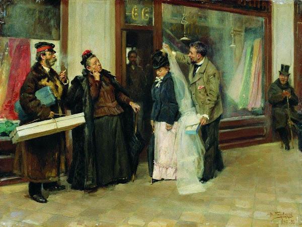 Маковский Владимир Егорович - Выбор приданого. 1898