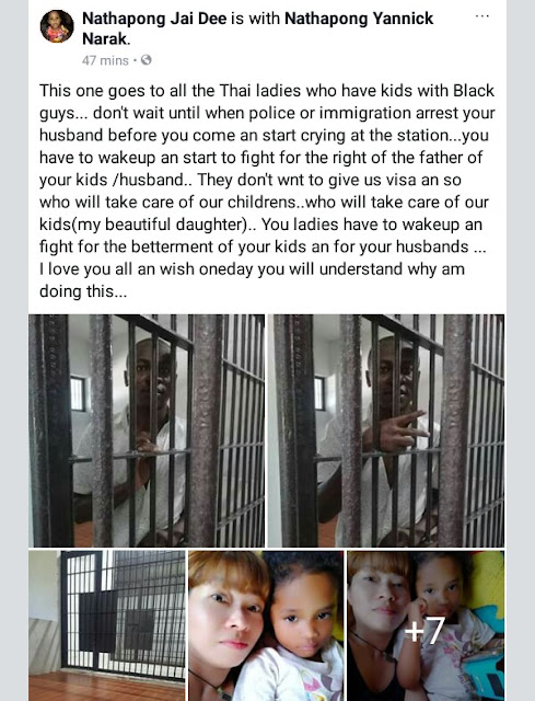 """I have never done wrong"" - Cameroonian man married to Thai woman cries out after being arrested by Immigration police (photos)"