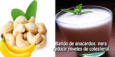 Batido de anacardos para reducir niveles de colesterol✅potente fruto seco, ideal para cuidar nuestro sistema nervioso, corazón, cerebro, músculos y piel.