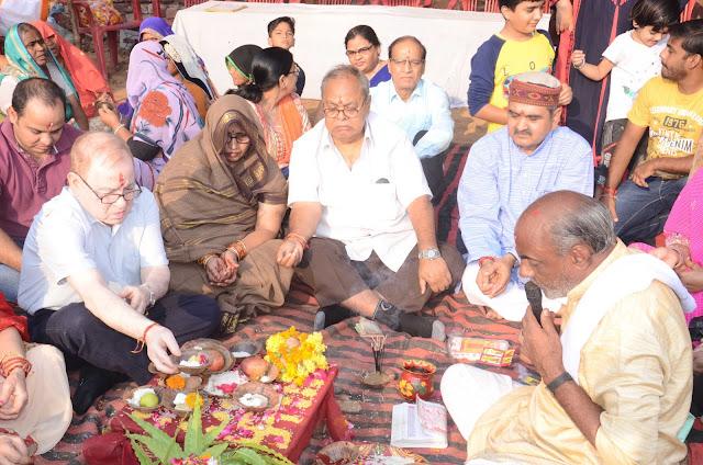 श्री ब्राहमण धर्मशाला का भूमि पूजन समारोह आयोजित|   Bharatpuur Latest News In Hindi.