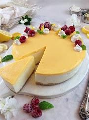 Bolo Mousse de Limão feito com queijo quark (fit; saudável; sem glúten; opção lowcarb)