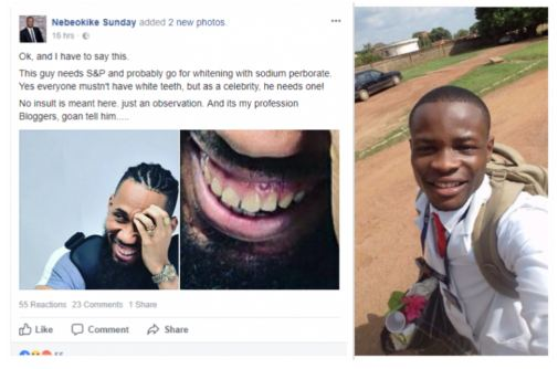 Nigerian Dentist Advices Phyno To Go and wash His Teeth, Before smiling again