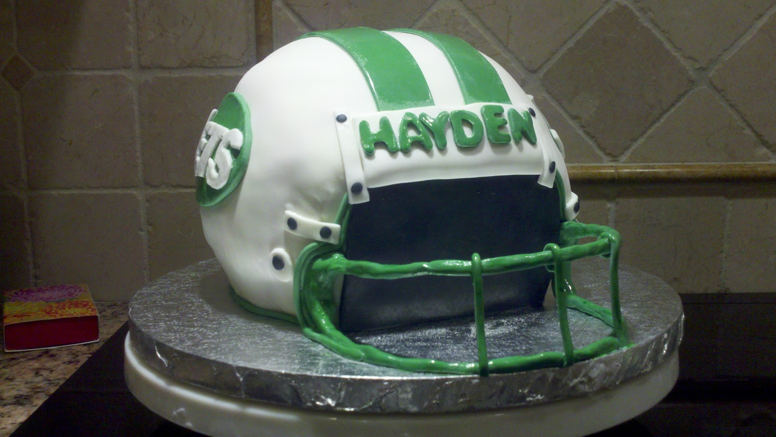 Deb S Custom Cakes Jets Football Helmet Cake