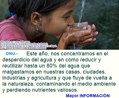 Día Mundial del Agua - 22 de marzo - La humanidad necesita agua