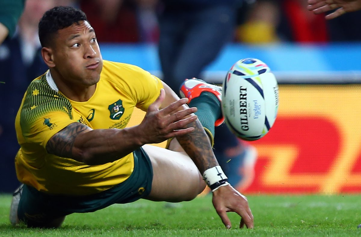 Israel Folau of Australia during the Rugby World Cup 2015