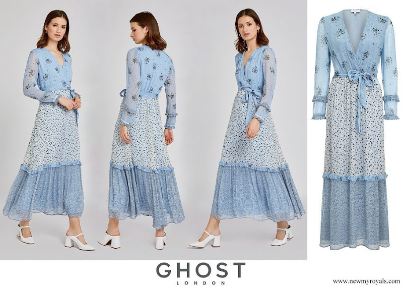 Kate Middleton wore Ghost Avery Wrap Floral Dress