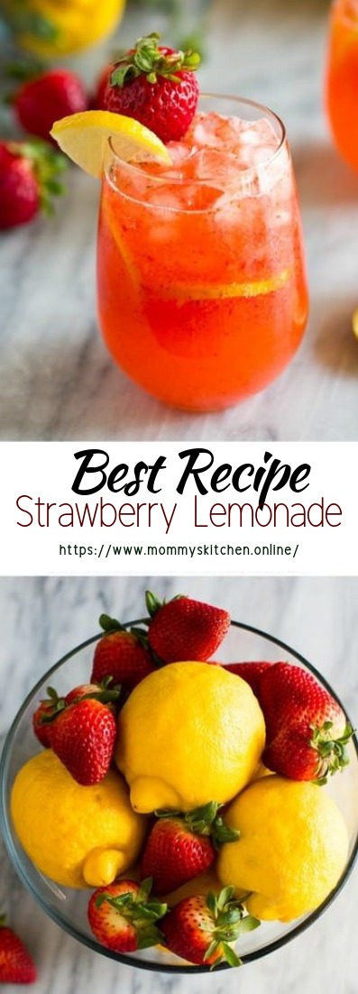Strawberry Lemonade #healthydrink #easyrecipe #cocktail #smoothie